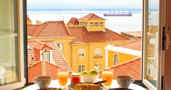 isbon, food, breakfast, view, window, good, european, travel, alfama, looking, home, sea, roofs, plate, open, roof, at, mediterranean, scene, through, exterior, table, tile, honeymoon, river, red, drink, countries, urban, happiness, culture, panoramic, built, cup, tagus, morning, traditional, feel, building, portugal, frame, city, interior, vacations, portuguese, cake, scenic, house, tourism, juice, beautiful, romance, comfortable, structure, europe, glass, cityscape