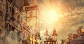place, travel, traveler, czech, sun, sky, art, ancient, clock, human, tower, medieval, bohemia, square, historical, town, praha, view, prague, sunrise, business, cultures,