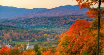 fall, vermont, autumn, usa, building, sunset, vt, leaves, tree, autumn landscape, america, town, foliage, north, community, sunrise, red, yellow,